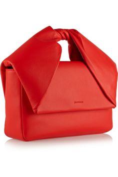 J.W.Anderson | Twisted leather clutch | NET-A-PORTER.COM