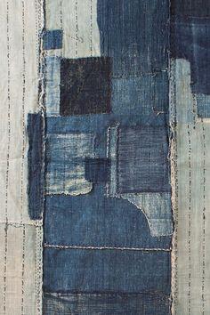 Textiles |  denim boro close-up