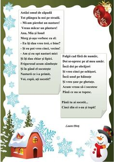 Probleme în versuri 1 Anul Nou, Experiment, Christmas Books, Baby Play, Winter Theme, Kids Education, Nursery Rhymes, Kids And Parenting, Activities For Kids