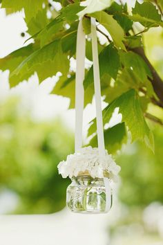 This is simple, yet elegant I would like to put these in the nearby trees on my wedding day! #DBBridalStyle
