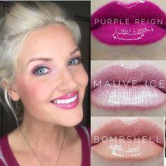 Purple Reign Lipsense combos Lip Sense, Beauty Makeup, Eye Makeup, Makeup Counter, Purple Reign, Lip Art, Organic Beauty, Cut And Color, Lip Colors