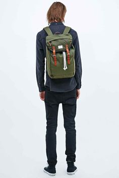 Shop Sandqvist Hans Canvas Rucksack in Green at Urban Outfitters today. We carry all the latest styles, colours and brands for you to choose from right here.
