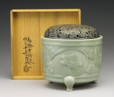Lot A 'Longquan' Celadon Molded Tripod Censer, Southern Song Dynasty Diameter 7 in. Chinese Culture, Chinese Art, Chinese Ceramics, Tea Bowls, Everyday Items, Oriental, Objects, Carving, Pottery