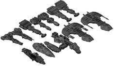 Complete Corellian ship line up (top row).