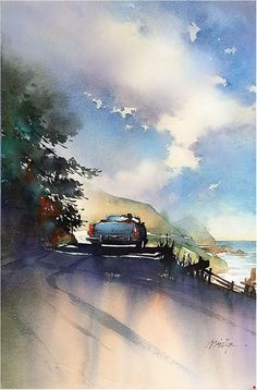 Drive by Thomas W. Schaller Watercolor ~ 22 inches x 14 inches