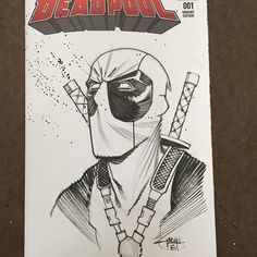 #inkpulpdoodleoftheday #deadpool commission for @captainscomicsandtoys #themercwithamouth #marvel #marvelcomics by inkpulp