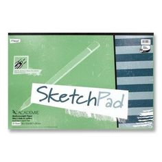 """MEAD PRODUCTS                                      Sketch Pad, Medium Weight, 18""""x12"""", 50 Sheets, White"""