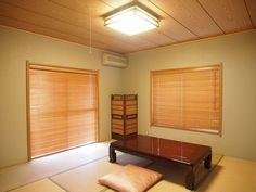 ウッドブラインド取付写真_和室への取り付け No.4ウッドブラインドは和室とも相性が良いのが特徴です。和室の硬い雰囲気を和らげたり、 モダンな雰囲気にしたい場合などはウッドブラインドをご検討くださいませ。