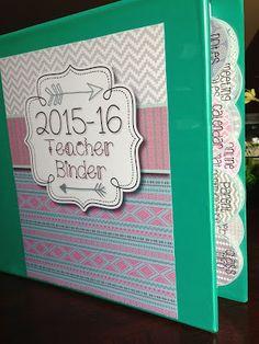 All-in-One Simple Style Teacher Binder {Tribal Patterns} - Free binder updates each year! - Mrs. Heeren's Happenings
