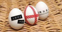 taped eggs - Ihan Kaikki Kotona