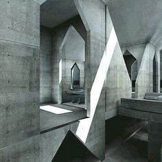 "jamesusilljournal: "" Hurva Synagogue, Designed by Louis Kahn, Jerusalem, Israel, 1974 "" Monumental Architecture, Sacred Architecture, School Architecture, Contemporary Architecture, Architecture Details, Modern Contemporary, Interior Architecture, Louis Kahn, Beton Design"