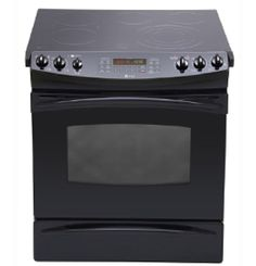 """PCS968DRBB by General Electric Canada in Winnipeg, MB - GE Profile 30"""" Slide-In Electric Self Cleaning Convection Range with Bake/Warm/Storage Drawer Shop JS Furniture Gallery for all your appliance needs.  1725 Ellice Avnue, Winnipeg, http://furnitureandmore.ca"""