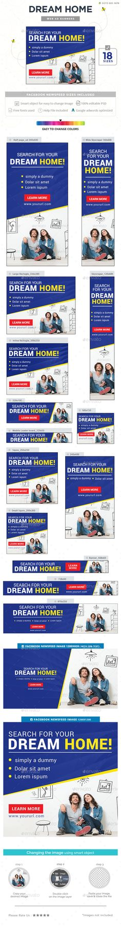 Dream Home Ad Banners