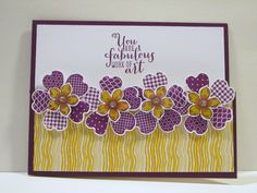 Stampin' UP! In-color 2014-2016 Blackberry Bliss, Hello Honey, DSP, Pansy Punch, Petite Petals, Flower Shop, Work of Art Stamp Set