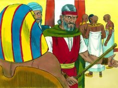 Free Bible illustrations at Free Bible images of Moses and the final three plagues God sent on Egypt. (Exodus 10 - 12): Slide 1
