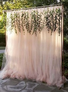 greenery and blush wedding backdrop / http://www.deerpearlflowers.com/wedding-ceremony-arches-and-altars/4/