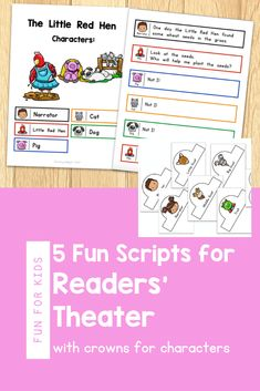 Engage your beginning readers with these fun readers theater scripts. They are perfect for first grade readersand and include 5 classic folktales, like The Gingerbread Man, The Little Red Hen, Three Little Pigs, Three Billy Goats Gruff, and Goldilocks and the Three Bears. Readers theater is a fun way to practice reading while building fluency. It can be done as a repeated read during guided reading, or used for a classroom play. These scripts also work well for late kindergarten.