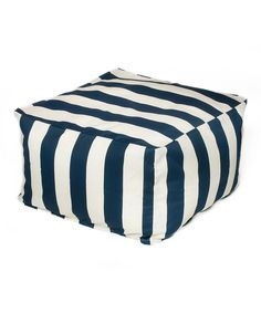 Look at this Navy Cabana Indoor/Outdoor Beanbag Ottoman on #zulily today!