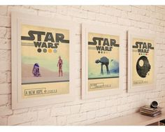 STAR WARS TRILOGY Episode 4  5  6 Movie Set Posters  von POTAPOTA