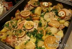 Görög citromos csirke Meat Recipes, Healthy Recipes, Hungarian Recipes, Hungarian Food, Potato Salad, Food And Drink, Turkey, Dishes, Chicken