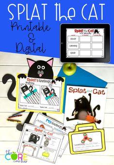 #splatthecat #splatthecatlesson #readaloud #distancelearning #seesaw #googleslides #googleclassroom #digital #printable #thecorecoaches