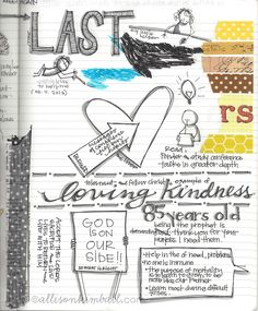 Allison Kimball scripture art journal.  I don't promote her Mormon beliefs, but this is a wonderful inspiration for my own Biblical studies.