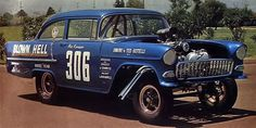 55 chevy gassers drag racing - Google Search