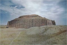 The remains of the Tower of Babel, the tower that is mentioned in the Bible, in Iraq.