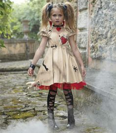 voodoo doll girls costume - Sticks and stones may break our bones, but ouch! -- pins do a voodoo doll in.