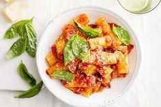 Spicy salami and chilli rigatoni