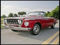 "1962 Dodge Polara convertible in ""vermillion"". Dodge Polara, Vintage Cars, Antique Cars, Convertible, Move Car, Ferrari, Dodge Chrysler, Boynton Beach, Chrome Wheels"