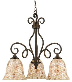 Quoizel MY5103 Three Light Down Light Chandelier