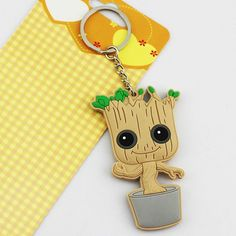 Guardians Of The Galaxy Keychains With Blister Card For Fans - Baby Groot (3.15 inches)