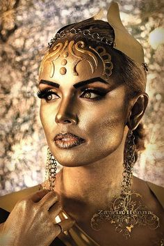 The Midas Touch Model: Leigh Fox Jewels: Jaclyn Anthony Design Wardrobe: Lee Stalcup MUA, Hair, and Photog: Zarrin Henna - Haya Qureshi