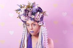 Handmade flower crown made by Carbickova Bijoux. www.CarbickovaBijoux.etsy.com <3