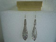 Oneida Justice Earrings Silverplate 1916  #Oneida #DropDangle