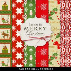 Brindes Novo Kit de fundos do inverno - Feliz Natal