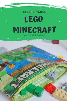 Ich habe meinem Sohn eine kleine Tasche aus einer Lego Minecraft Verpackung genäht, damit er seine Legosteine immer mitnehmen kann. Ihr bekommt hier die Schritt-für-Schritt-Anleitung zum Nachmachen.  #lego #legominecraft #minecraft #legodiy #minecraftdiy #diy #nähen #nähenfürjungs #nähenfürkinder #nähenmachtspaß #tutorial #nähtutorial #diytutorial Minecraft Diy, Minecraft Skins, Easy Crafts For Kids, Diy For Kids, Lego Batman, Art Hama, Diy Mode, Our Kids, Kids Playing