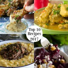 Top Ten Recipes of 2017 Most Popular Recipes of 2017 From breakfast to dinner and dessert heres a quick look back on the most viewed shared loved and popular recipes of Most Popular Recipes, Favorite Recipes, Thing 1, Dessert For Dinner, Recipes From Heaven, Special Recipes, Cookbook Recipes, Pinterest Recipes, Healthy Recipes