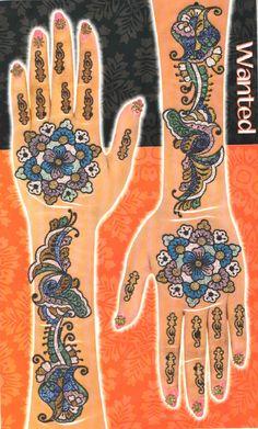 Glimmering Mehendi Tattoos - Multicolor Set#01