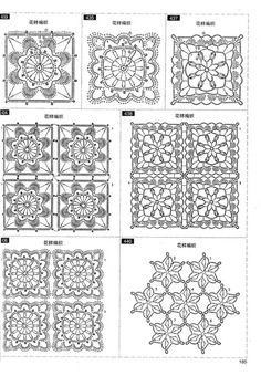 Foto: Crochet Vest Pattern, Crochet Square Patterns, Crochet Squares, Crochet Granny, Crochet Motif, Knit Crochet, Granny Squares, Knitting Charts, Knitting Stitches