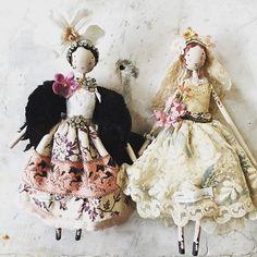 Pegasus and Bride Sophie #magpiedolls #fairies #1920s #magpieandthewardrobe #weddingdress  #pegasus
