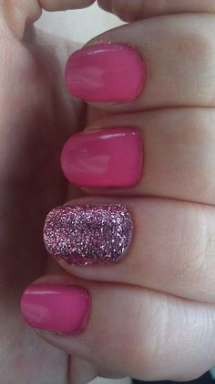 My nails! i love a good fun sparkle accent nail!