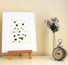 Your place to buy and sell all things handmade Abstract Expressionism, Abstract Art, Ink Painting, Floating Nightstand, Contemporary Art, The Originals, Trending Outfits, Handmade Gifts, Green