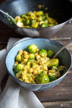 Rosenkohl-Curry mit Kichererbsen   Madame Cuisine Rezept
