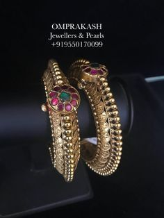 The Exclusive   Hand crafted Lakshmiji Kasu Bangles! Best of its Kind and Divine Look... Stunning hand crafted bangle studded with lakshmi kasu and precious stones. 25 February 2018