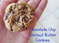 Chocolate Chip Coconut Butter Cookies Paleo style