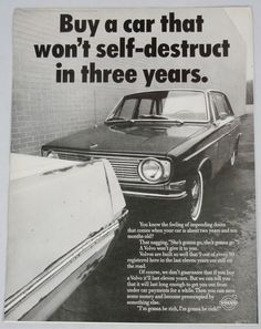 Vintage 1969 LIFE Magazine Ad Volvo Car Buy a Car That Won't Self Destruct