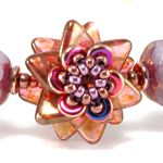 *P Double Pinwheel Beaded Bead>  (More 2-hole beads I don't have:  gorgeous, PDF $9.)