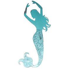 Blue Metal Swirl Mermaid Wall Decor Everydecor